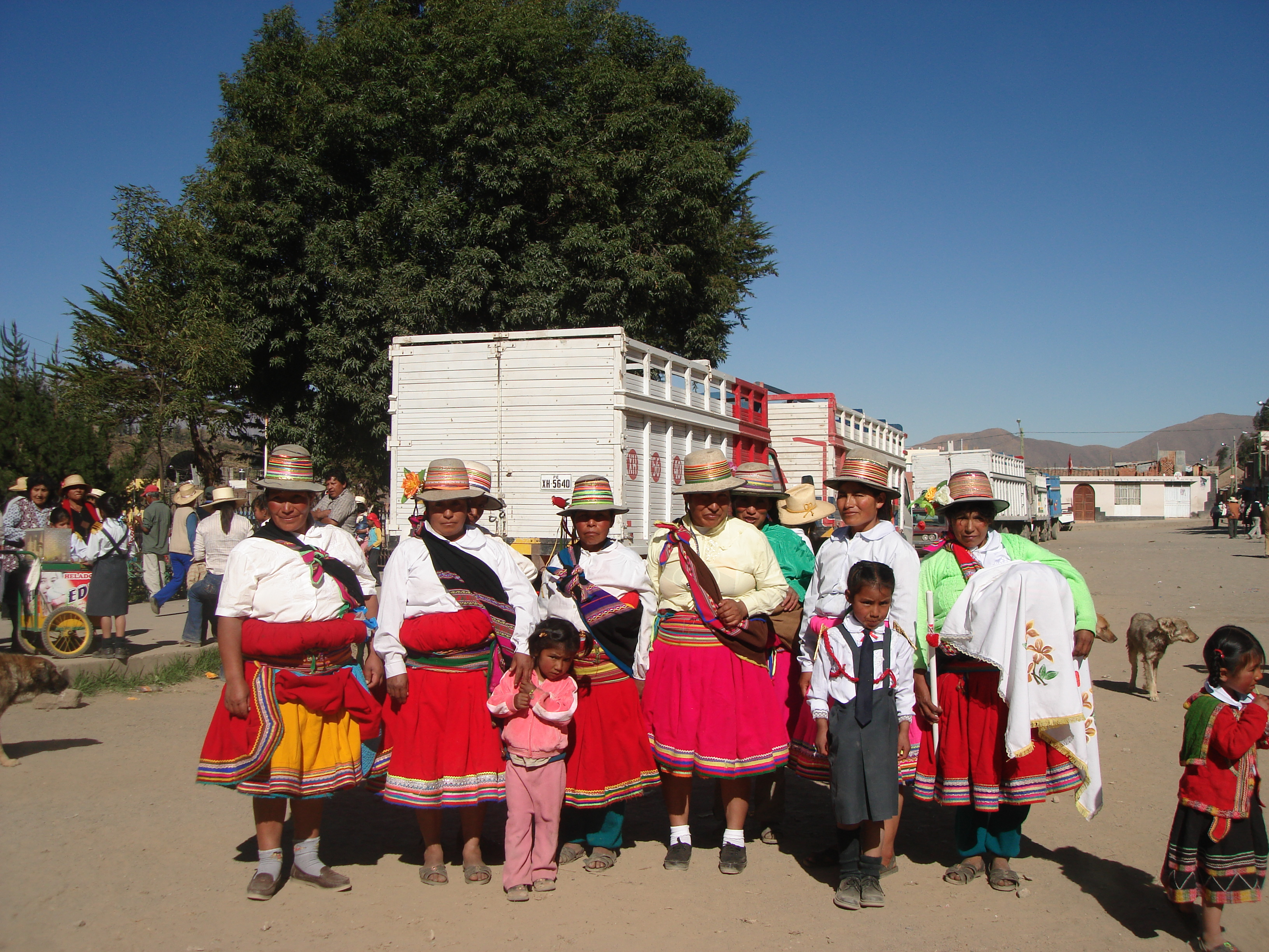 Indian people from Tuhuallqui en Pampacolca